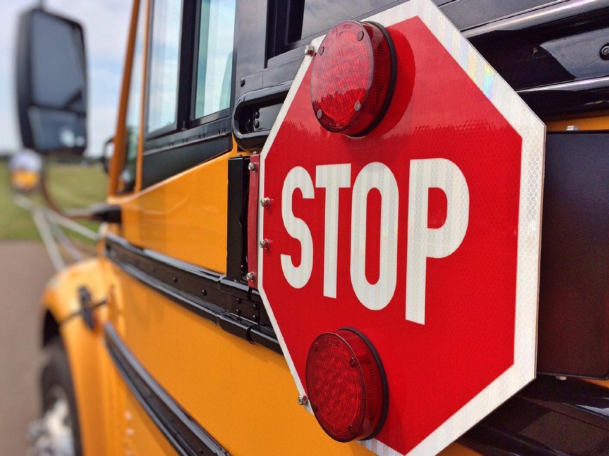 School Bus - School is Open - Drive Carefully